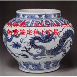 安徽元青花五彩人物故事纹大罐交易市场