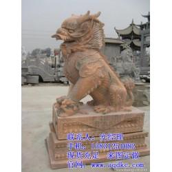 爱强石雕(图)|晚霞红石雕麒麟报价|天津石雕