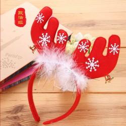 圣诞节日用品红色圣诞头饰头箍发箍