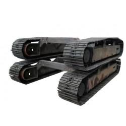 直销各种工程履带底盘总成 钢制橡胶履带底盘2-25吨