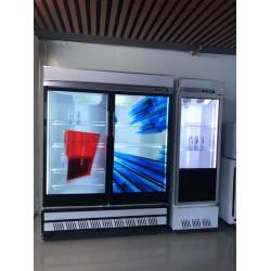 东莞惠华电子厂家直销55寸透明液晶显示冰柜门、冰箱门