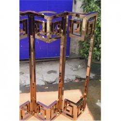 316不锈钢阳台镜面古铜色护栏48*2mm加工