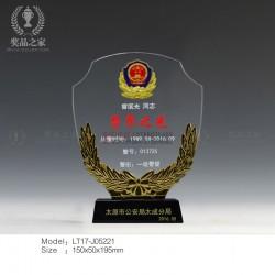 警界之星奖杯 警 察退休纪念品生产厂家 从警周年留念礼品批发
