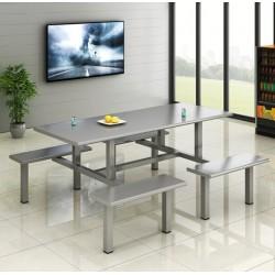 广东不锈钢餐桌食堂餐桌钢制餐桌椅厂家可定制批发供应