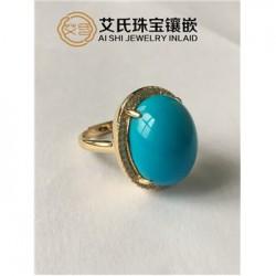 【珠宝镶嵌】松石镶嵌,松石雕刻工艺