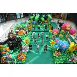 永新县寿宴气球策划公司专注于江西正九寿宴