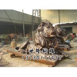 镇江铜狮子_世隆工艺品_铸铜狮子厂家